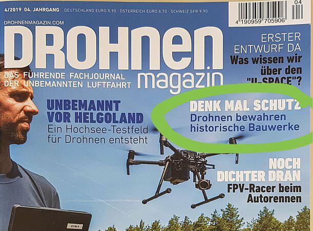 DENK MAL SCHUTZ - Fachbeitrag im aktuellen DROHNEN - magazin 4-2019