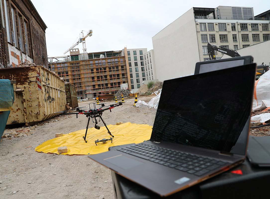 Drohneneinsatz zur Beweissicherung in Berlin